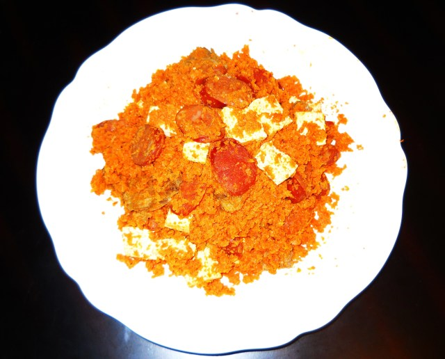 Chorizo, Carrots and Tofu (Photo by Aileen Torres)
