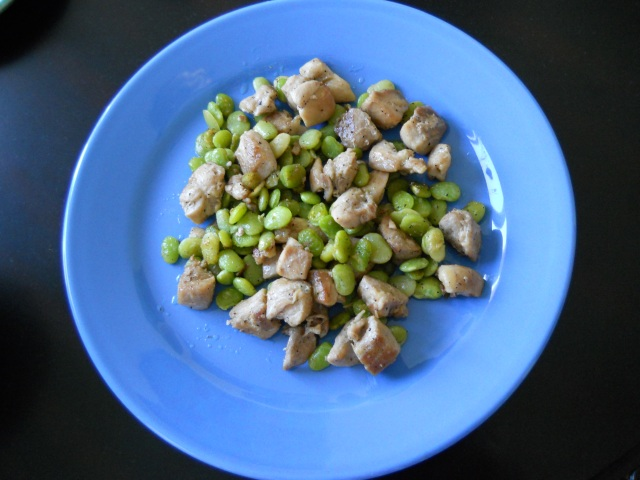 Chicken and Lima Beans (Photo by Aileen Torres)