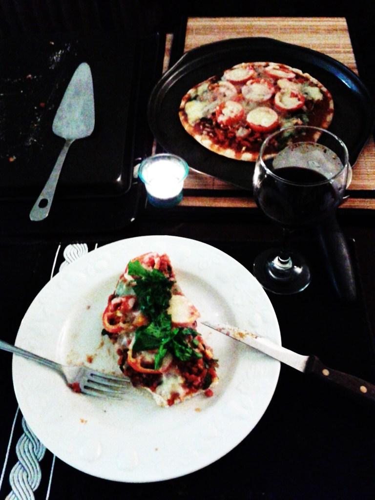 Sausage and Arugula Pizza