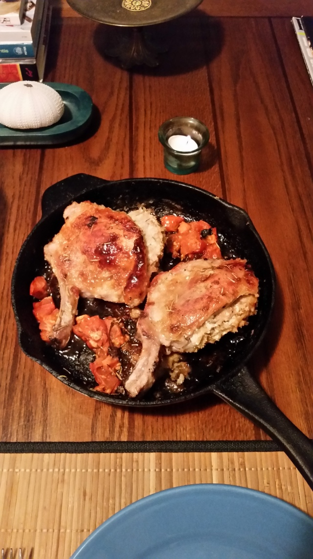 Stuffed porkchops