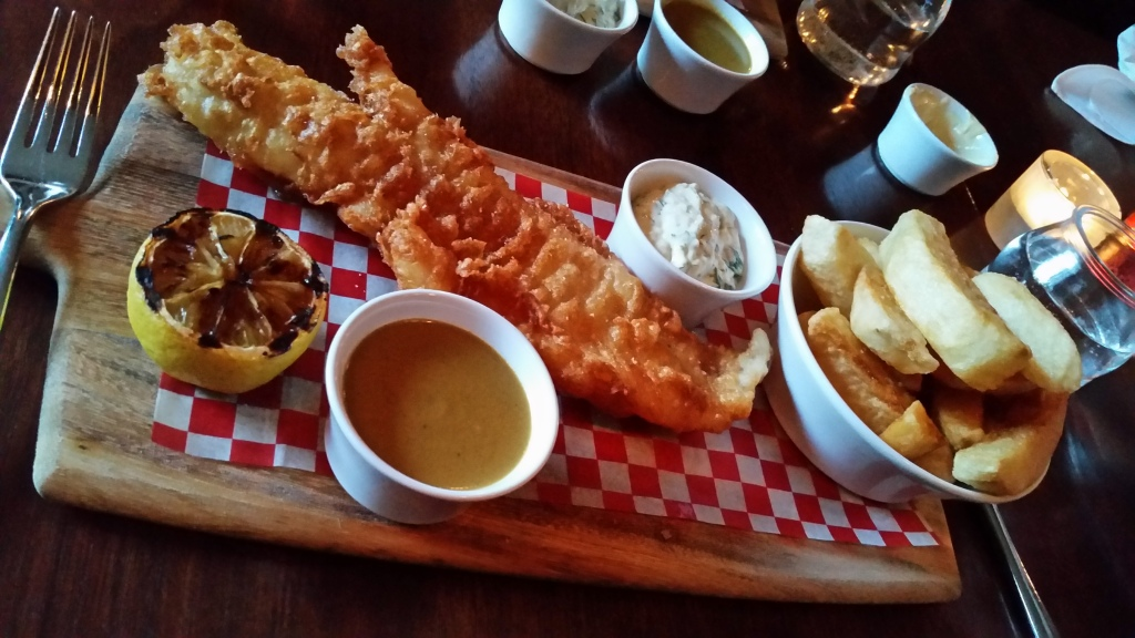 Fat Badger fish and chips