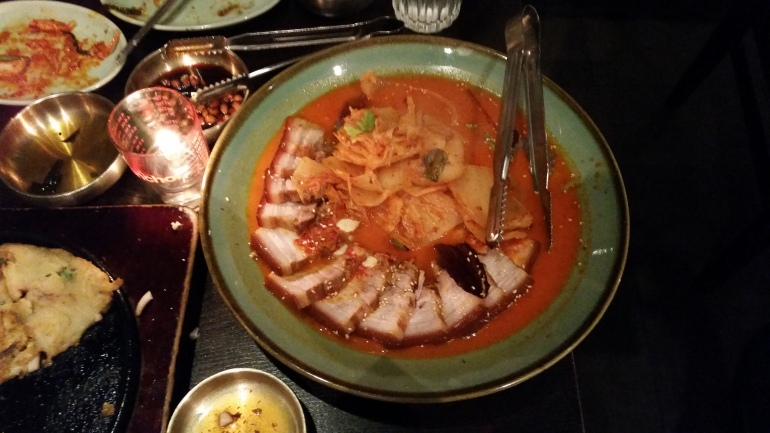 Sura pork and kimchi