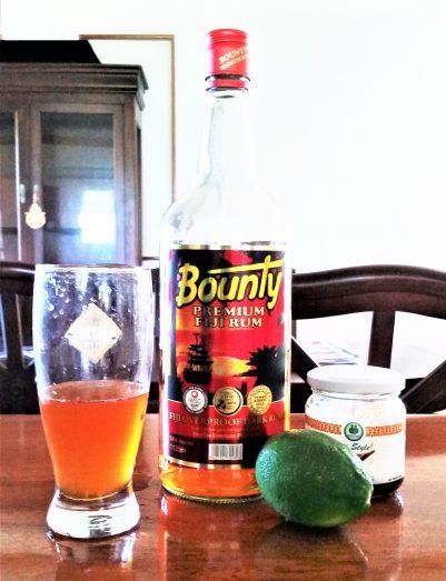Rum cocktail