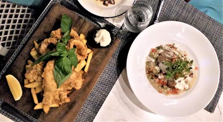 Radisson Blu Bar and Grill dinner