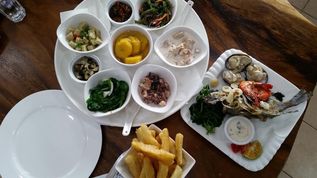 Capitano Cafe seafood platter