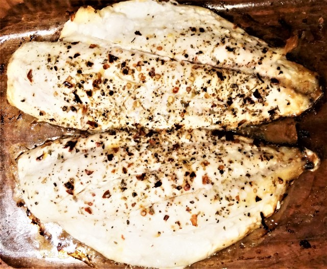 baked emperor fish