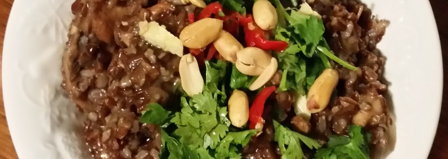 chicken rice porridge