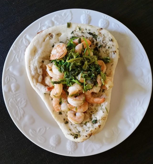 Shrimp and naan