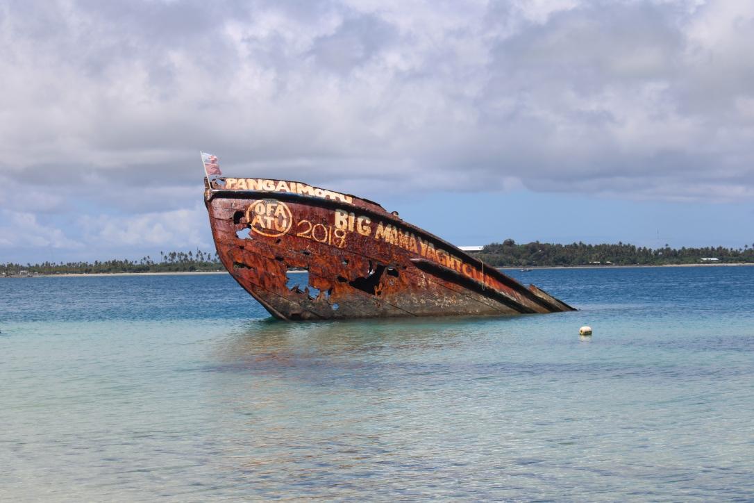 Big Mama wreck Pangaimotu Tonga
