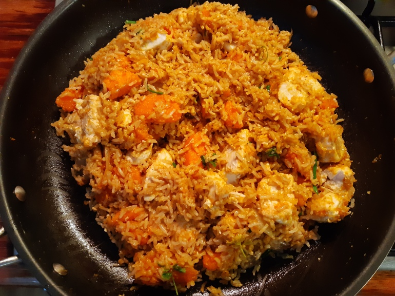 pumpkin wahoo rice