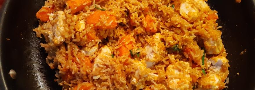 pumpkin wahoo rice