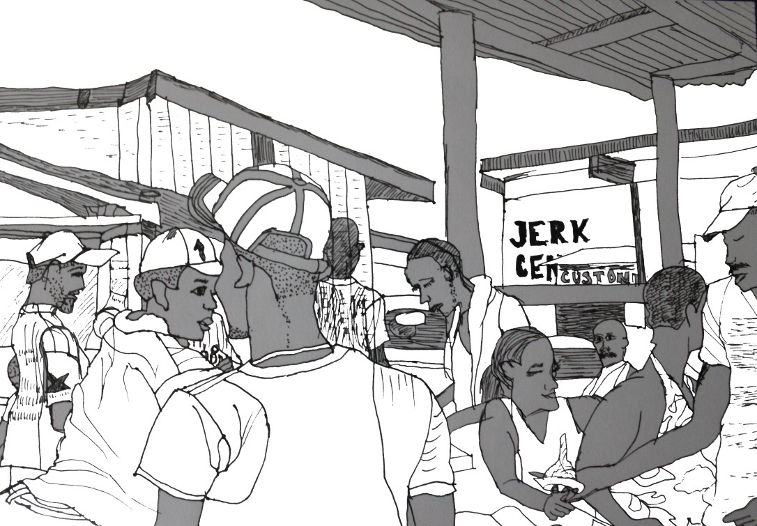 Jerk Center Boston Jamaica by Aileen Torres-Bennett