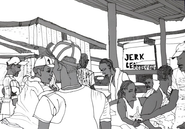 Jerk Center Boston Jamaica by Aileen Torres-Bennett