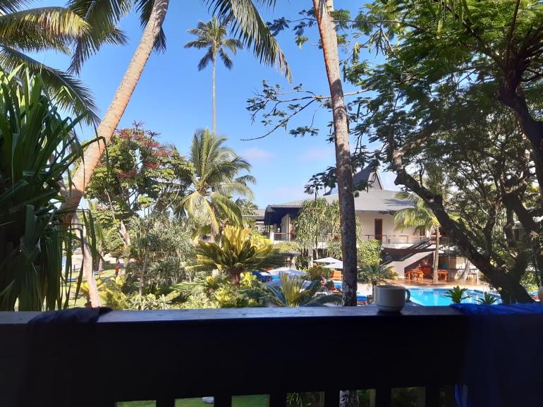 Warwick Fiji ocean view balcony