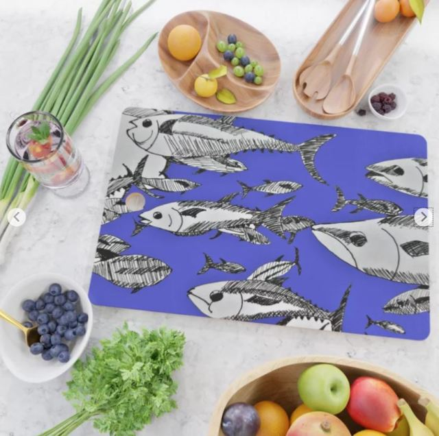 Fish in the Sea cutting board ATB
