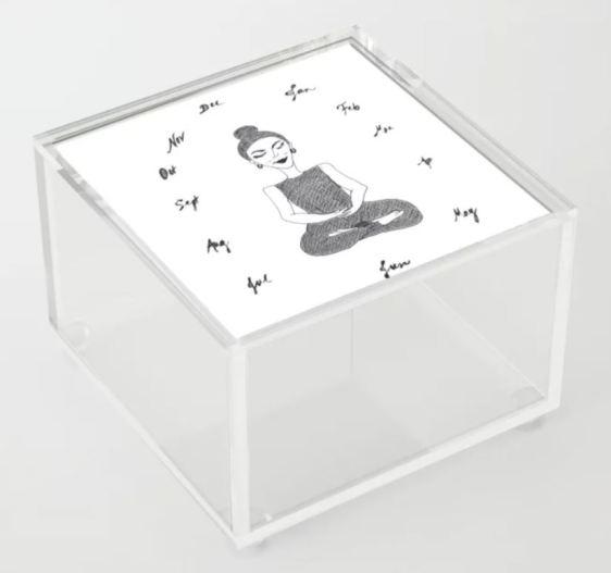 Meditation Through the Year acrylic box