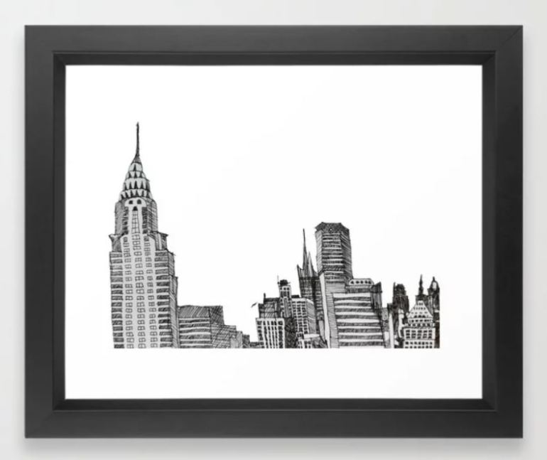 NYC skyline framed wall print ATB.JPG