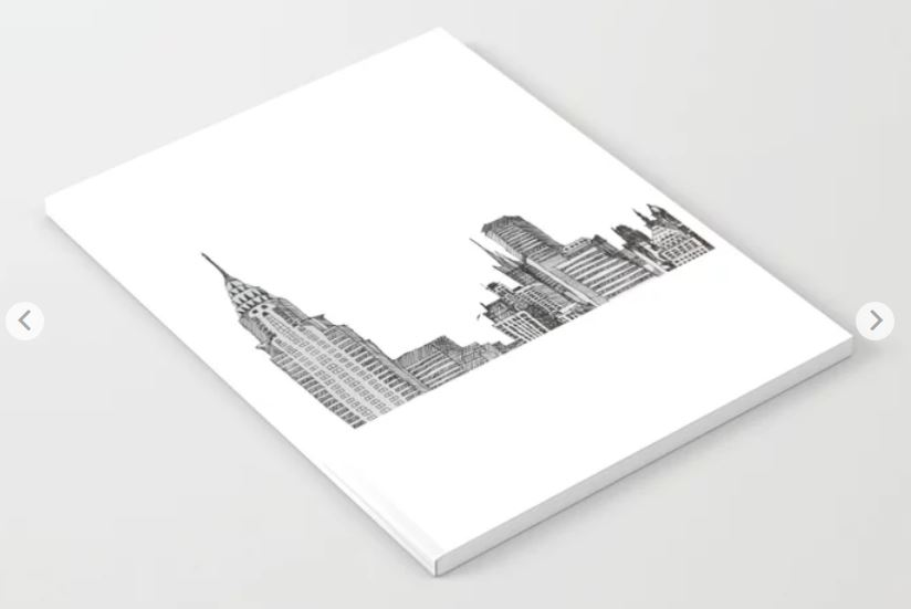 NYC skyline notebook ATB