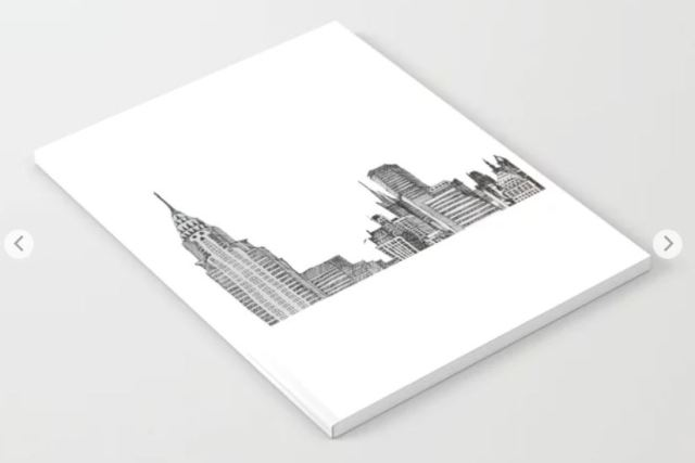 NYC skyline notebook