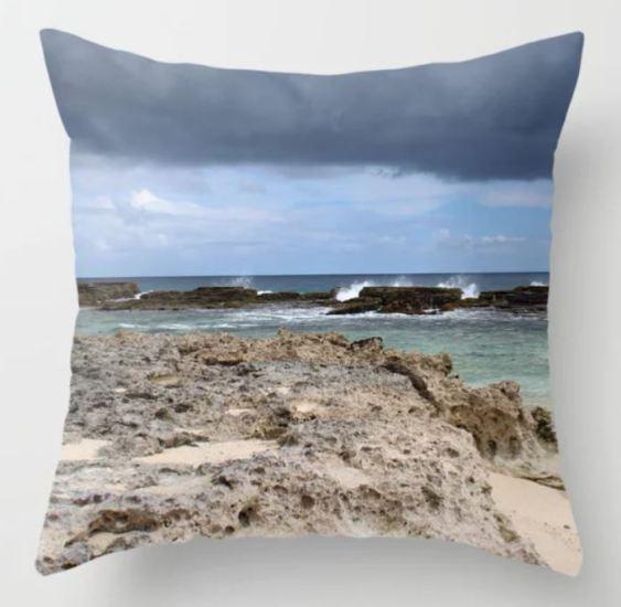 Tropical ocean rectangular throw pillow ATB