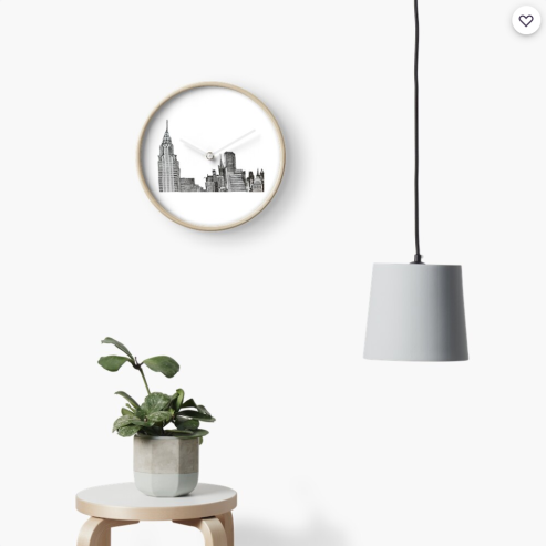 NYC skyline clock by Aileen Torres Bennett