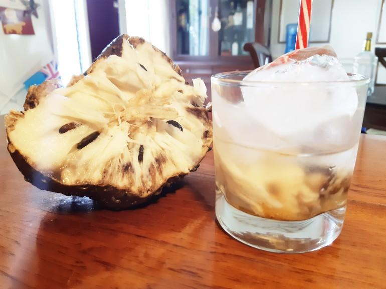 Soursop rum cocktail