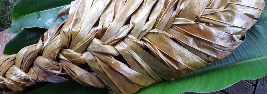 Saqa in braided palm frond
