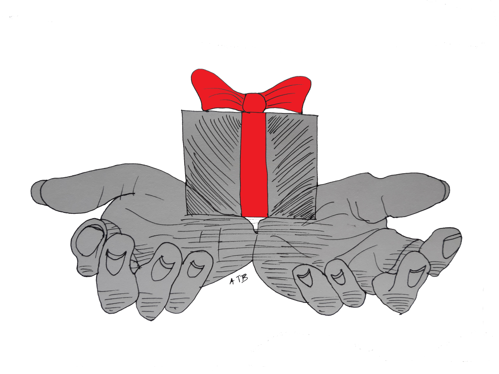 Simple Gifts. Illustration by Aileen Torres-Bennett.