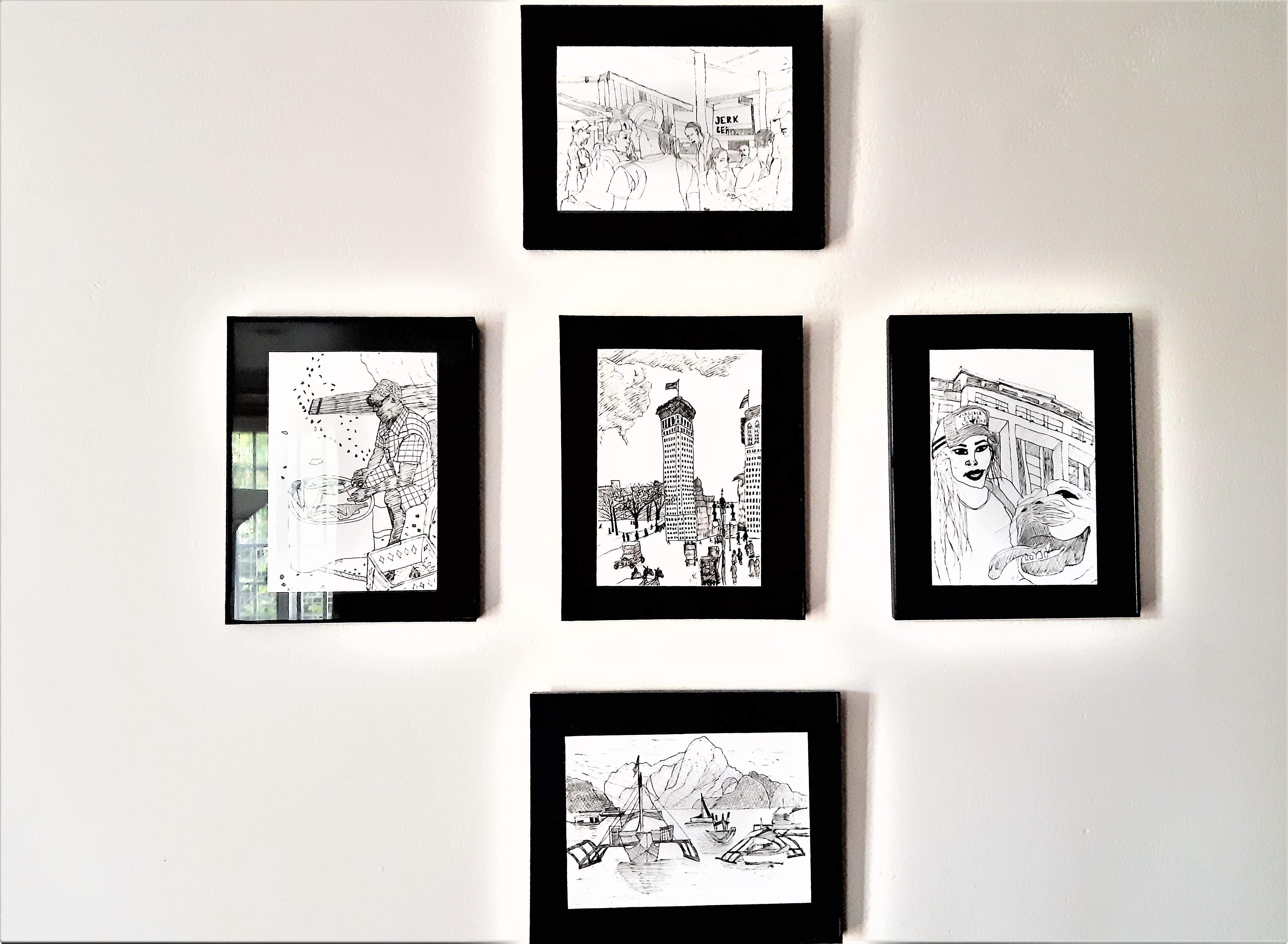gallery wall home design original art ATB
