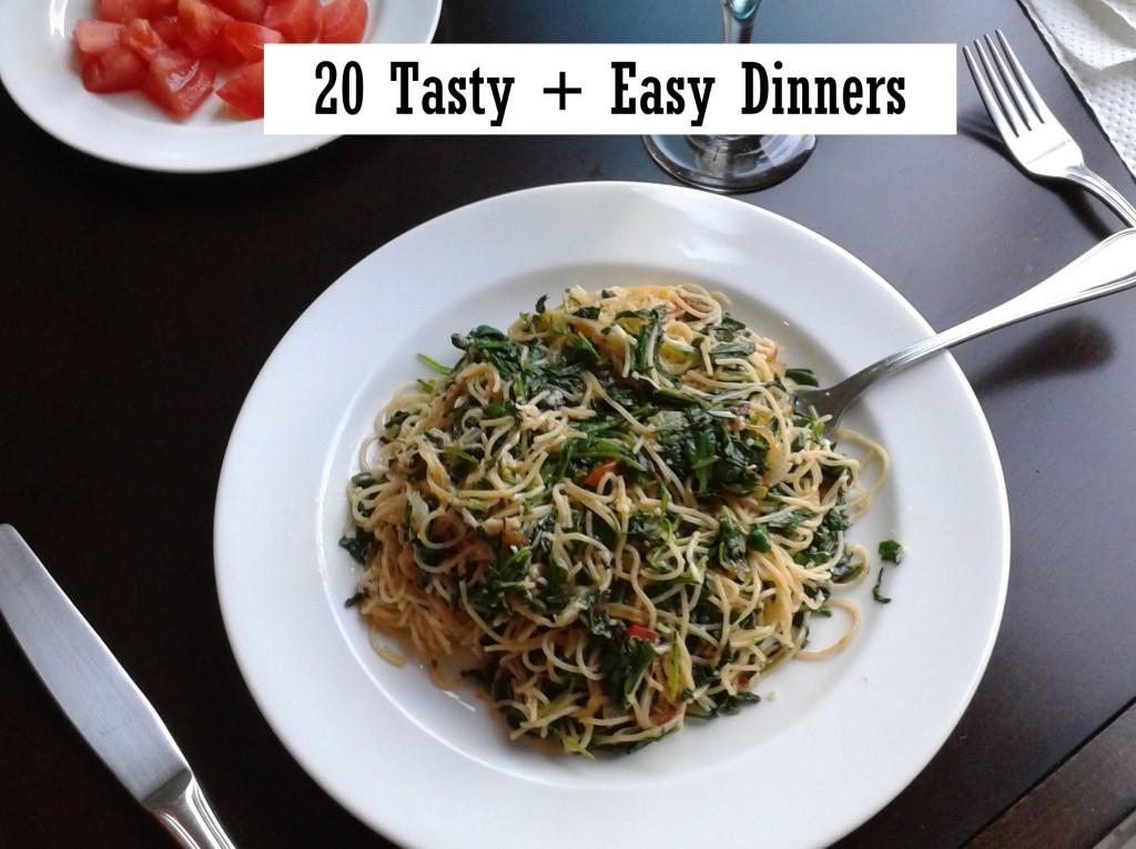 20 Tasty + Easy Dinners cookbook ATB