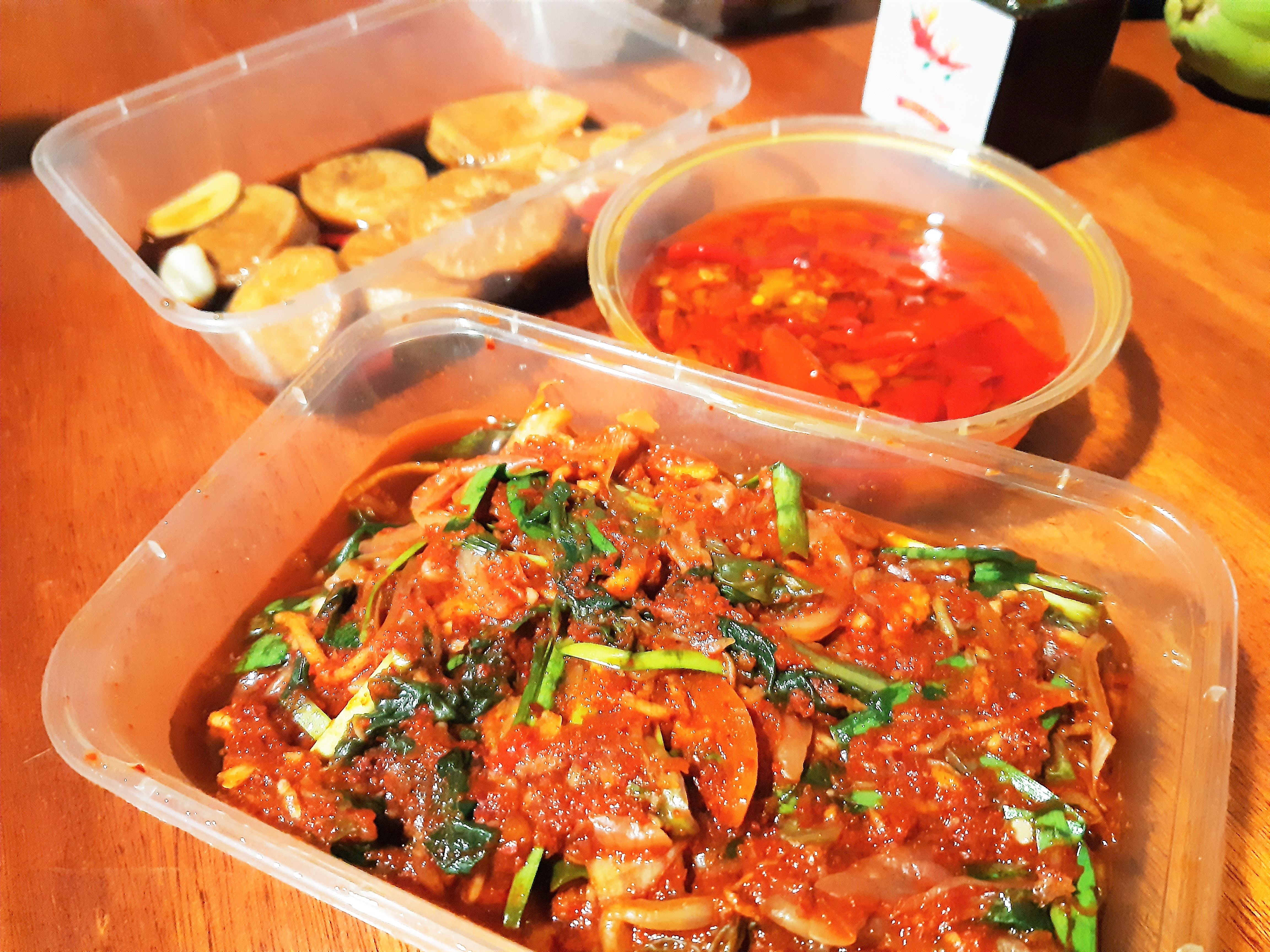 Ous Treat kimchi pickled daikon chiles marinading in oil